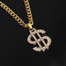 <b>Hip Hop</b> Rap Gold Color <b>US Dollar</b> Pendant Necklace Chain ...