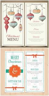 retro christmas and new year menu template retro christmas and new year menu template