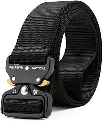 Fairwin <b>Tactical Belt</b>, <b>Military</b> Style Webbing Riggers Web Belt with ...