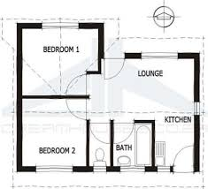Economy houseGround floor plan