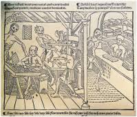 The First Illustration of a <b>Printing</b> Office & Bookshop in a Printed Book