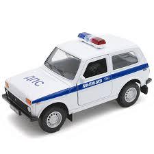 <b>Модель машины 1:34-39</b> LADA 4x4 МИЛИЦИЯ ДПС <b>Welly</b>