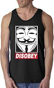 New Way 031 - <b>Men's</b> Tank-Top <b>Disobey</b> V For Vendetta ...