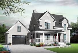 Story House Plans w garage from DrummondHousePlans comCloverdale Country style home   covered porch  bedrooms  home office