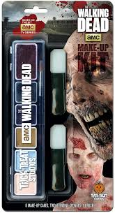 zombies appeared at the walking dead make up kit