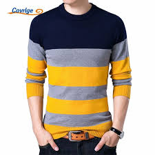 <b>Covrlge</b> Pullover <b>Male</b> New Fashion Red Black <b>Striped</b> Sweater ...
