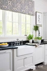 kitchen curtains fabric obsession im beautiful kitchen via traditional home with galbraith and paul fabric