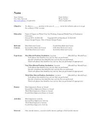standard resume template word   template   templatestandard resume template word