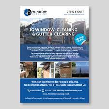 modern elegant flyer design for jg window cleaning by maria flyer design by maria design for jg window cleaning flyer design design 10628041