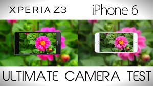 Sony Xperia Z3 vs iPhone 6 - Camera Comparison Test - YouTube