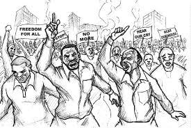 Image result for peaceful demonstration cartoon
