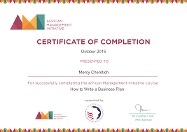 african management initiative how to write a business plan certificate