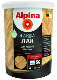 <b>Лак акриловый</b> Alpina <b>Аква Лак</b> для паркета и <b>полов</b> глянцевый, 0 ...
