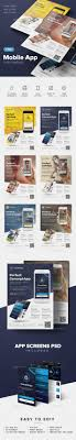 app promotional flyer promotional flyers flyer template and mobile app flyer template