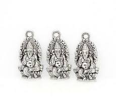 10Pcs Antique Bronze silver Religion Thailand <b>Ganesha Buddha</b> ...