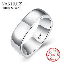 <b>YANHUI Original Solid 925</b> Sterling Silver Rings Unique Square ...
