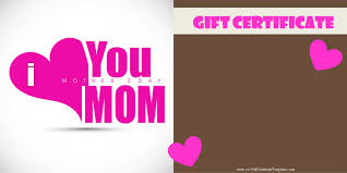 mother s day gift certificate templates gift certificate template for mother customize mothers day printable customize