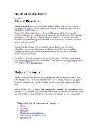full project on natural disasters flood tropical cyclones
