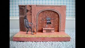 paper model of the addams family musical national tour stage set design pulled addams family set