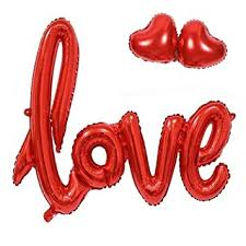 Evisha 1pc Red Or Rose Gold Love <b>Foil Balloon</b> 105*60 cm and ...