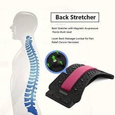 Lower <b>Back Stretcher</b> with Magnetic Acupressure Points <b>Multi</b>-level ...