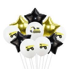 <b>10pcs</b>/<b>lot 12inch Confetti Balloon</b> Construction Vehicle Theme Party ...