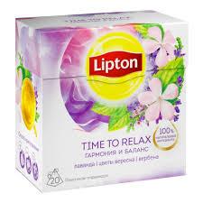 Чай <b>Lipton</b> травяной Time to Relax с <b>лавандой</b>, вербеной и ...