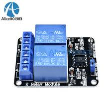 <b>5V</b> Two <b>2 Channel Relay</b> Module With optocoupler For PIC AVR ...