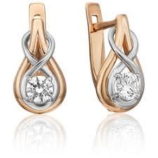 «Костромской ЮЗ <b>Серьги</b> золотые с <b>кристаллами Swarovski</b> ...