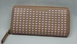 KG Kurt Geiger <b>Laser Cut</b> Hearts Zip <b>Around</b> Wallet In <b>Natural</b>   eBay
