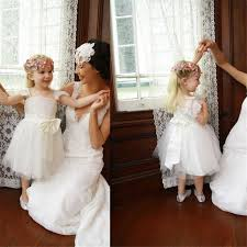 <b>Lovely Lace</b> Top Cap Sleeve A-Line Tulle <b>Flower Girl</b> Dresses With ...