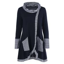 <b>Pinstriped Patchwork Pockets Design</b> Tee   Fashion, Plus size outfits ...