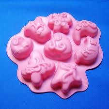 Hot sale (1pc/lot)<b>Halloween Silicone Cake</b> Mold 8 singular flowers ...