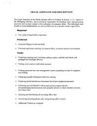 legal assistant resume resume badak legal assistant job description resume