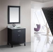 element contemporary bathroom vanity set: design element london single  inch espresso modern bathroom vanity set