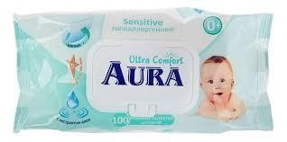 Купить <b>детские влажные салфетки Aura</b> Ultra Comfort с алоэ и ...
