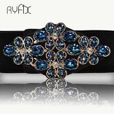 <b>Rhinestone</b> Elastic <b>Belt</b> luxury full <b>crystal</b> gem black <b>female</b> ...