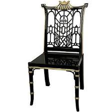 oriental furniture black lacquer pagoda chair cheap oriental furniture