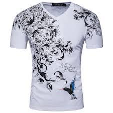 <b>Men's Summer Fashion New</b> Print Hummingbird Cotton T-Shirt ...