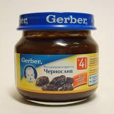 gerber пюре чернослив 80 г