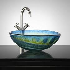 ideas bathroom sink bowl sinks kosovopavilion cosmo glass vessel sink bathroom tempered has a multi colored swirl de