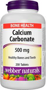Calcium Carbonate <b>500</b> mg | <b>Healthy Bones</b> & Teeth | Webber ...