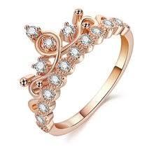 Best value <b>Zircon</b> Ring Engagement for <b>Women</b> Rose <b>Wedding</b> ...