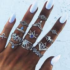 <b>CUTEECO</b> 13 Style <b>Vintage</b> Knuckle Rings for Women <b>Boho</b> ...