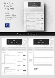 one page resume templates samples examples formats one page resume >