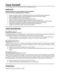 career objectives for resume for engineer  general labor resume    general labor resume objective