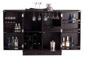 black polished maple wood short black mini bar home