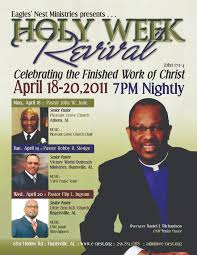 flyers a sista media group holy week revival