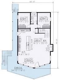 Wide Open Lakefront Home Plan   DT   st Floor Master Suite    Floor Plan