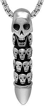 HKJCstore <b>Titanium Steel</b> Pendant <b>Ornaments</b>, Personalized Skull ...